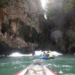 Phang Nga Bay canoeing passing a cave