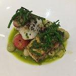 Wild Cornish turbot, summer beans, octopus and salsa verde