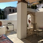 The gorgeous breakfast terrace