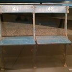 Benches from Wimbley Stadium