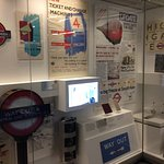 Display of ephemera, London Transport Museum
