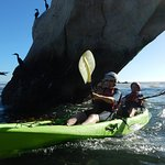 Kayaking Under an Arch at Pismo Beach