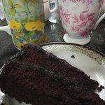 Tés y tarta de chocolate
