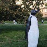 Penguin at the frieze sculpture exhibition