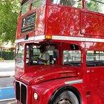 Open top vintage bus tour-London