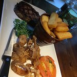 Great food great service great deal. On a Friday night to get 3courses each and wine for 27.00 e