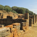 Some of the buildings in the Roman ruins are better preserved than others.