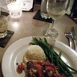 Swordfish and Risotto with fresh Green beans