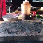 the lava stone...steak all gone Mmmmm