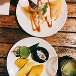 Highlight : Banana Caramel Crepes and Mango Sticky Rice