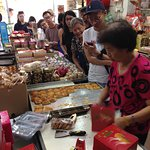 Everyone was queuing up for one thing - the kaya puffs!