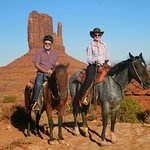 Riding Tuscon and Roamie on a 2 hr trail ride in Monument Valley, YEEEHAAAA!
