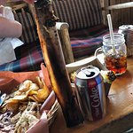 Dinosaur rib, after lunch