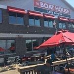 Great service and lake view, tasty food, dog-friendly deck