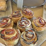 Marzipan and Apple Rose Cakes A speciality of `Hideaway`