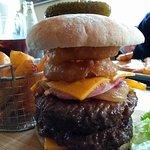 Delicious gourmet special burger