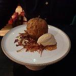 Dessert - apple sorbet and fermented apple
