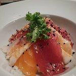 chirashi (salmone,gambero,tonno)