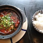 Braised fish with rice