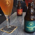 Heerlijk genieten van lokaal biertje en apfelstrudel