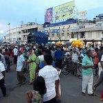 broad road crowed with devotees