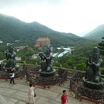View from top of Po Lin Buddha.