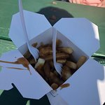 Starting off our visit at the Big E with poutine
