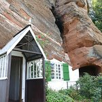 Quirky built into rock face
