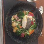 Hake and all the lovely vegetables!