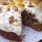 Carrot cake with cream cheese butter icing