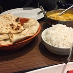 Lamb Pasanda with steamed rice and naan
