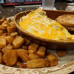 Supreme Omelette with Potatoes and English Muffins