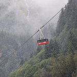 Tram going up the mountain