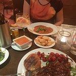 sirloin steak& veal pizzaiola