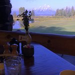 View from dining room in lodge