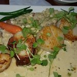 scallops with risotto