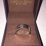 Mens Wedding Band with Sapphires