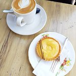 Great coffee and lemon tart - recommended