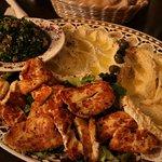 Meze Platter - Hommus, Moutabal, Tabbouleh & Halloumi