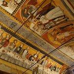 plafondschilderingen in de oude kapel