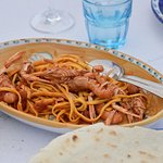 choice of pasta with prawns or crab
