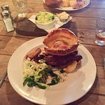Excellent roast beef with various veg