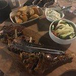 Spit roast lamb at Meraki