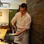 Sushi Tetsu chef at work