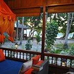 Vue terrasse bungalow