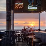 Sunset from outdoor bar area