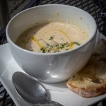 Small serving of chowder