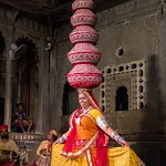 Exceptional skill and concentration required to balance the multiple matka's and yet dance!