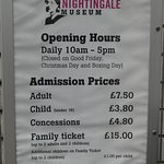 Florence Nightingale Museum: entrance charges