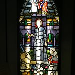 Florence Nightingale Museum: stained glass depicting Florence Nightingale